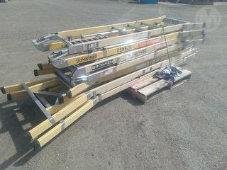 Various Ladders 1 X Pallet Workshop Equipment (GP) Photo