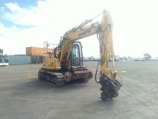 2008 Komatsu PC138US-8 Hi-rail Excavator Photo