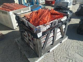 Custom Crate OF Assorted Plastic Fen Safety Equipment Photo
