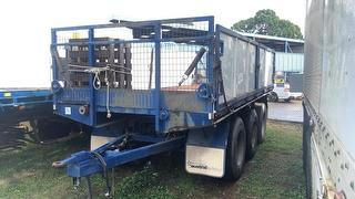 1986 Banmere 3 Axle Pig Trailer ATM 22,000kg Photo