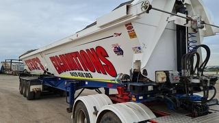2012 Cimc AU VG S3 Dual Side Tipping Trailer Sold with Lot 305 Freightliner ATM 38kg Photo