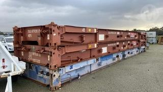 3 x 40 Foot Flat Rack Shipping Container 40T Rated Photo