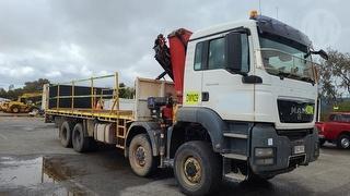 2010 MAN TGS 41.480 8X8 Crane + Flat Top GCM 90,000kg Photo
