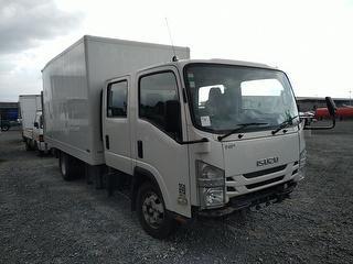2017 Isuzu N Series NPR325C Box Body Truck *** Athy Auckland *** Structural Damage *** Selling DE Re Photo
