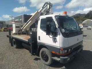 1998 Mitsubishi Canter FE647EV Cherry Picker Flat Deck w *** Wellington *** Selling Registered *** G Photo